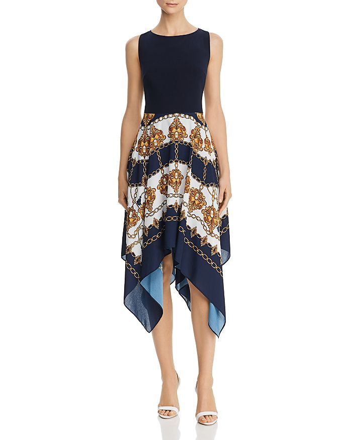 Adrianna Papell - Scarf-Print Dress