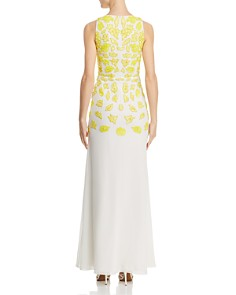 Aidan by Aidan Mattox - Embellished Fluted Gown