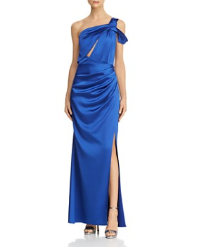 Laundry by Shelli Segal - One-Shoulder Satin Gown
