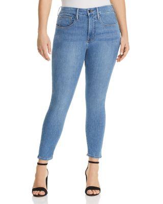 Good Legs Crop Skinny Jeans In Blue268/269 by Good American