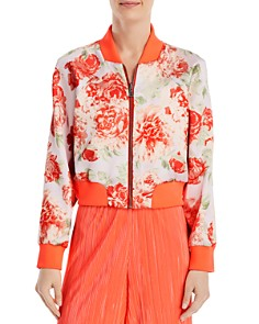 Alice and Olivia - Duke Reversible Cropped Bomber Jacket
