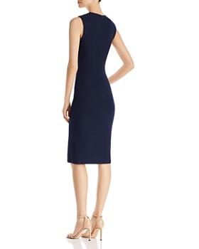 St. John - Sarga Knit V-Neck Dress