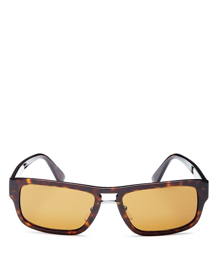 Prada Men's Square Sunglasses, 56Mm In Havana