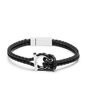 Salvatore Ferragamo - Double Woven Leather Bracelet