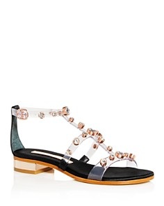 Sophia Webster - Women's Embellished T-Strap Sandals