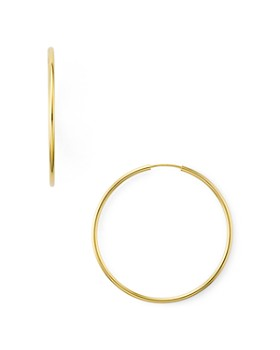 2a93658d9 Argento Vivo - Endless Hoop Earrings in 14K Gold-Plated Sterling Silver or Sterling  Silver ...