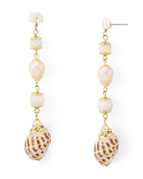 AQUA - Shell Drop Earrings - 100% Exclusive