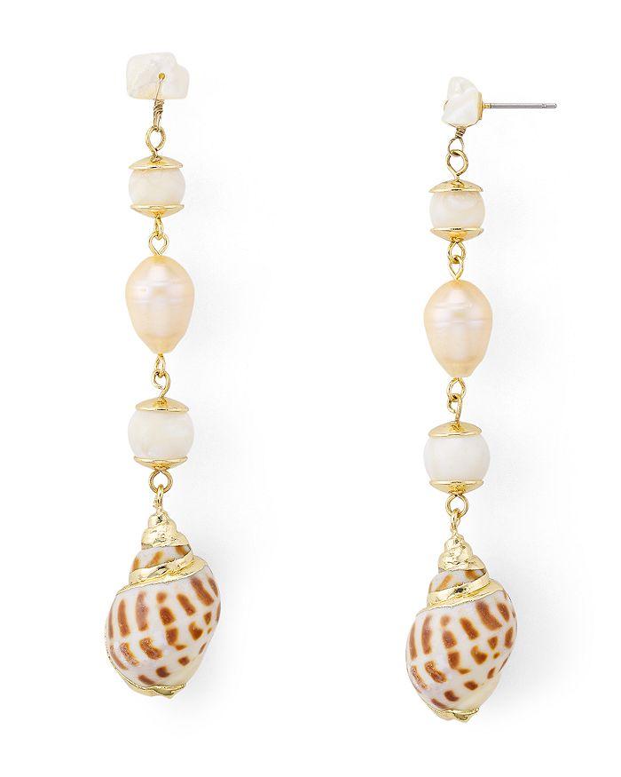 AQUA - Shell Drop Earrings - 100% Exclusive
