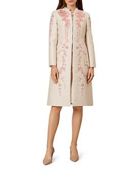 HOBBS LONDON - Melody Floral Jacquard Coat
