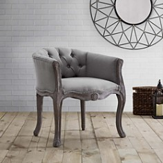Modway - Crown Vintage French Upholstered Fabric Dining Armchair