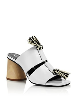 Proenza Schouler - Women's Knotted Rope Block Heel Mule Sandals