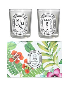 diptyque - Mimosa & Geranium Rosa Candle Duo Set
