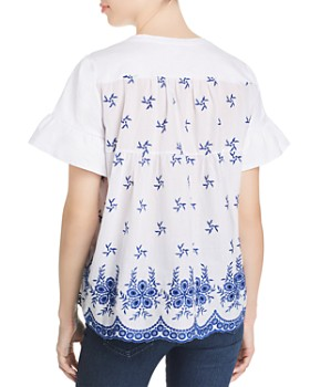 Single Thread - Embroidered-Back Top