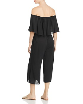 Elan - Off-the-Shoulder Cropped Jumpsuit