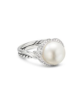 David Yurman - Sterling Silver Continuance Pearl Ring with Diamonds