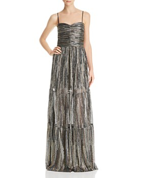 Rebecca Vallance - Bellagio Metallic Tiered Gown