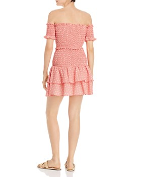 leRumi - Marianna Smocked Off-the-Shoulder Top & Mini Skirt Set