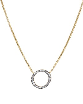 """Nadri - Sterling Villa Open Circle Pendant Necklace in 18K Gold-Plated Sterling Silver, 17"""""""