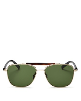 Salvatore Ferragamo - Men's Brow Bar Aviator Sunglasses, 56mm