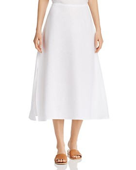 eff43d9f8bb Eileen Fisher - Organic Linen A-Line Midi Skirt ...