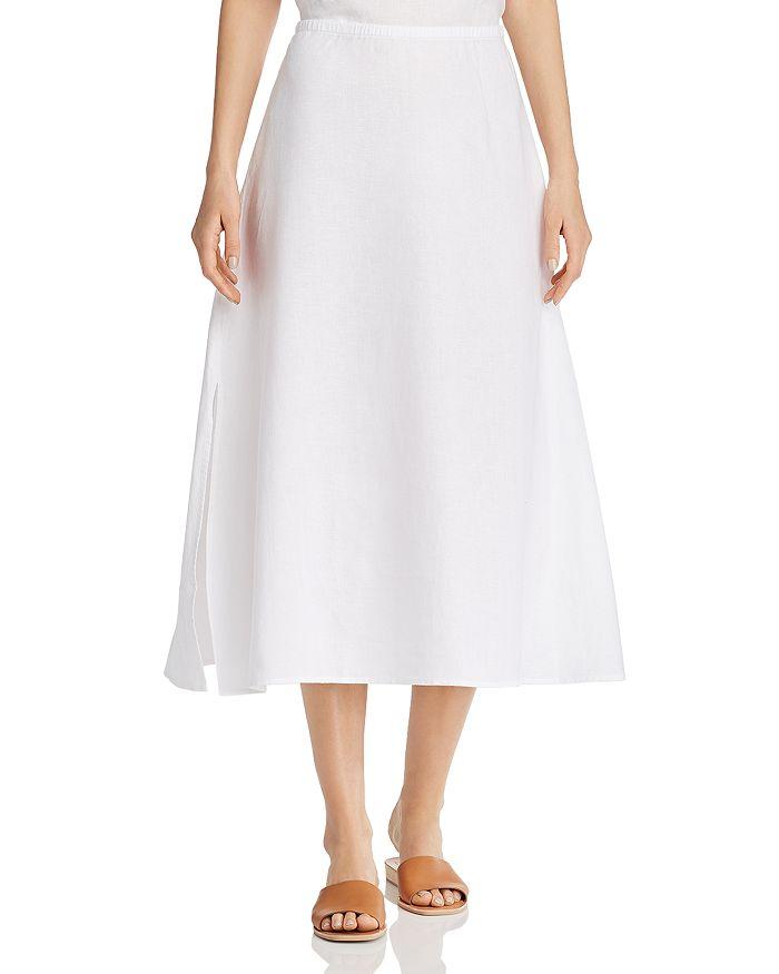 Eileen Fisher Petites - Organic Linen A-Line Midi Skirt
