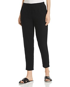 Eileen Fisher - Plissé Organic Cotton Pants