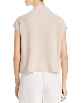 Eileen Fisher - Metallic Cap-Sleeve Sweater
