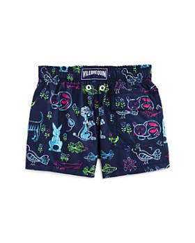 Vilebrequin - Boys' Jim Florence Animal-Print Swim Trunks - Little Kid, Big Kid