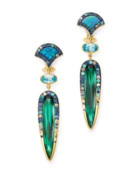 JOHN HARDY - 18K Gold Cinta Naga Pertiwi One-of-a-Kind Drop Earrings with Diamonds & Gemstones - 100% Exclusive