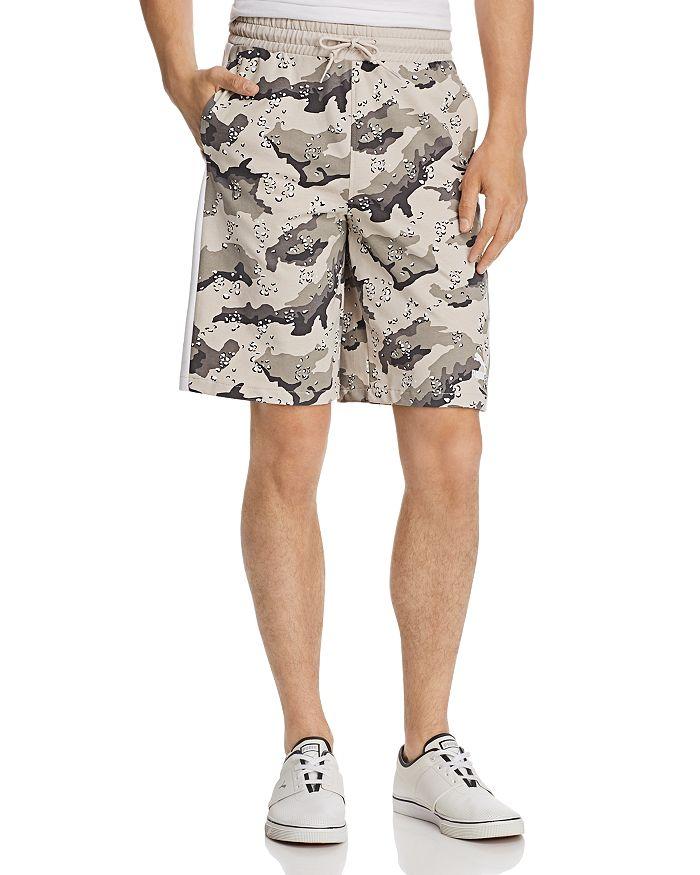 PUMA - Wild Pack AOP Camouflage-Print Drawstring Shorts
