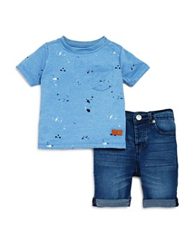 840e8103897 7 For All Mankind - Boys  Splatter-Print Pocket Tee   Denim Shorts Set ...