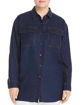 Lafayette 148 New York Plus - Everson Linen Shirt