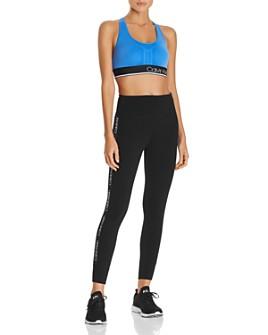 Calvin Klein Performance - Performance Textured Logo Sports Bra & Logo-Trim Leggings