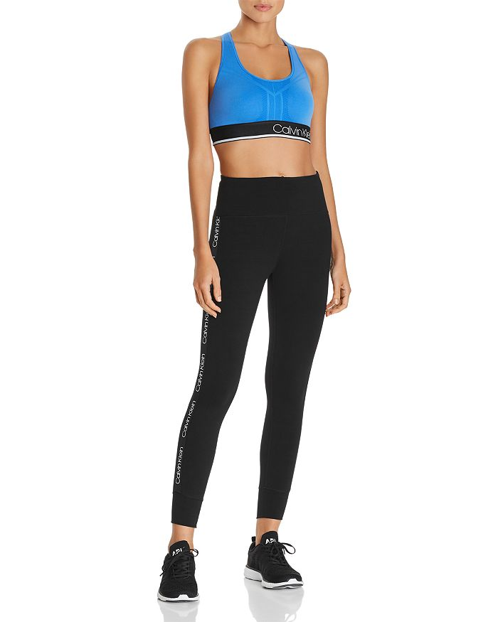 6b34382b18c9ff Calvin Klein Performance - Performance Textured Logo Sports Bra & Logo-Trim  Leggings