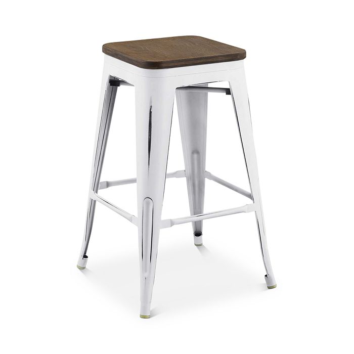 Modway - Promenade Backless Wooden Seat Counter Stool