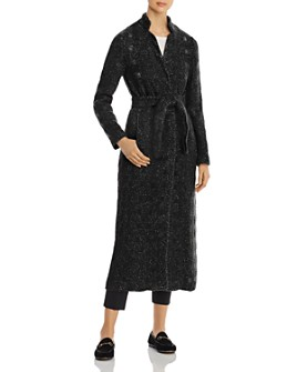 Herno - Metallic Tweed Windowpane Maxi Coat - 100% Exclusive