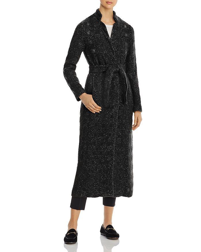 Herno - Metallic Tweed Windowpane Maxi Coat - 100% Exclusive