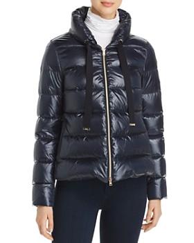 Herno - Mixed Media Fur-Back Short Down Coat