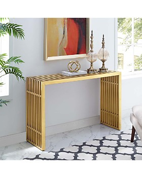 Modway - Gridiron Stainless Steel Console Table