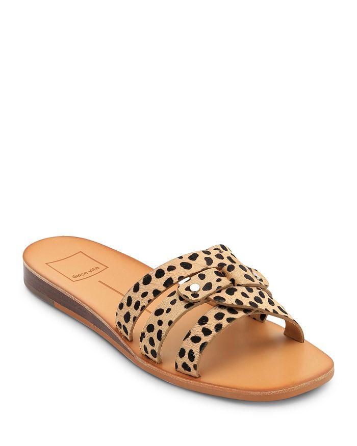 Dolce Vita - Women's Cait Leopard Slide Sandals