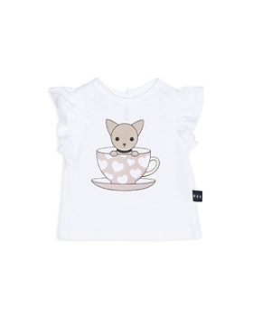 Huxbaby - Girls' Chihuahua & Teacup Frill Tee - Baby