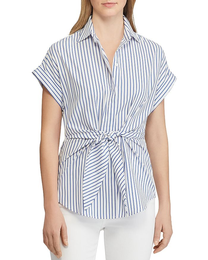 Ralph Lauren - Striped Tie-Front Shirt
