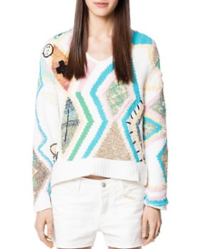 cab34ab8411a3b Zadig   Voltaire - Sonny Intarsia Carpet Sweater ...