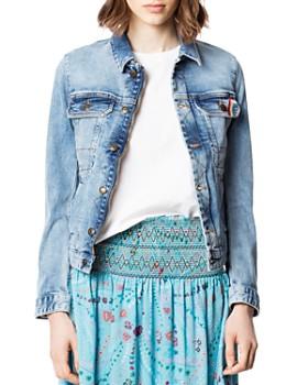 879808f01 Zadig & Voltaire - Kioky Embroidered Denim Jacket in Sky Blue ...