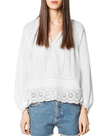 Zadig & Voltaire - Theresa Lace-Trimmed Tunic
