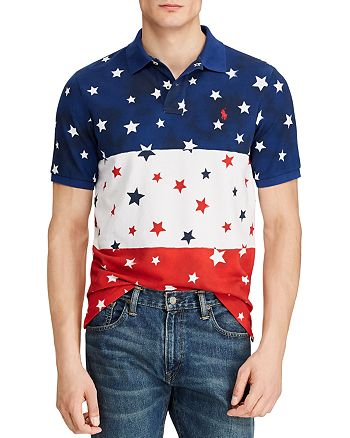 Polo Ralph Lauren - Americana Star-Print Mesh Classic Fit Polo Shirt