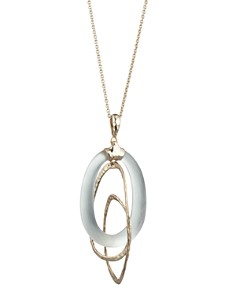 Alexis Bittar - Link & Lucite Loop Pendant Necklace, 32""