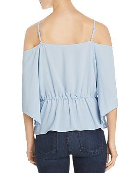 199d52bc0 ... VINCE CAMUTO - Tie-Front Cold-Shoulder Top - 100% Exclusive