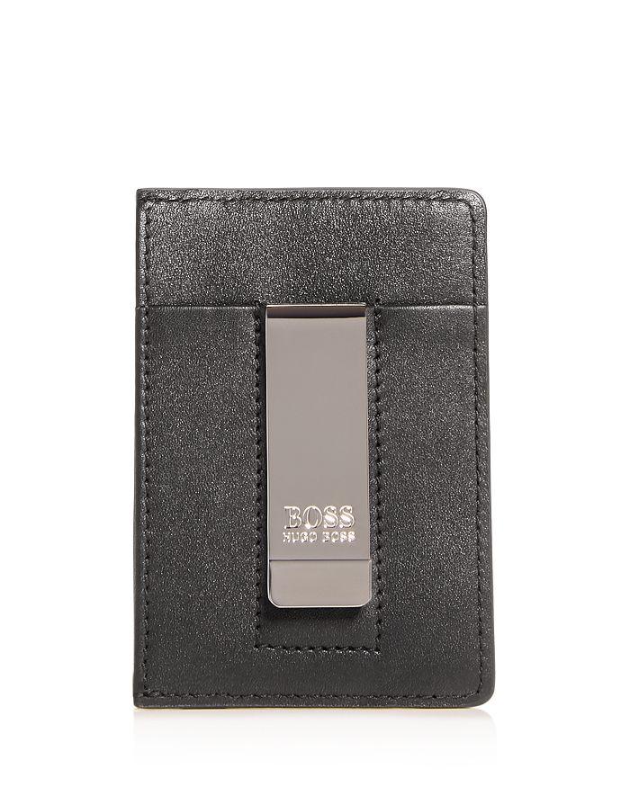 94a39d910bdc BOSS Hugo Boss Majestic Leather Money Clip Card Case | Bloomingdale's