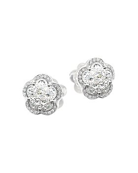 Pasquale Bruni - 18K White Gold Ton Joli - Je T'aime Diamond Flower Stud Earrings